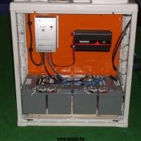Eilandinstallatie zonnepanelen batterijen
