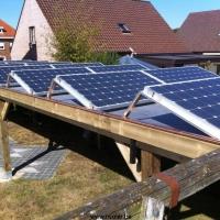 zonnecarport plat dak + stabilu