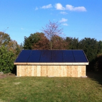 carport met zonnepanelen Risen Full black